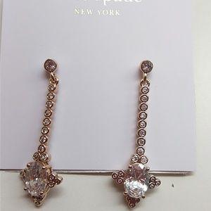 Kate Spade New Linear Rhinestone Earrings